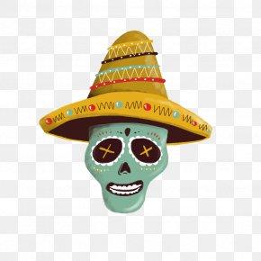 5 De Mayo - Sombrero Hat Mexico Calavera Headgear PNG