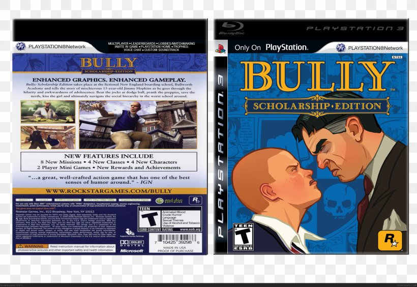 Bully: Scholarship Edition PlayStation 2 Xbox 360, PNG