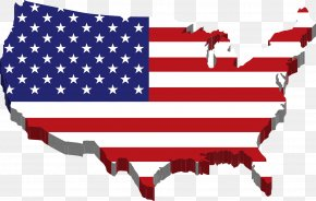 USA - Flag Of The United States Map Clip Art PNG
