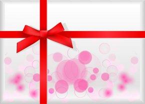 Dream Circle Painted Pink Gift Box Pattern - Pink Ribbon Red Illustration PNG