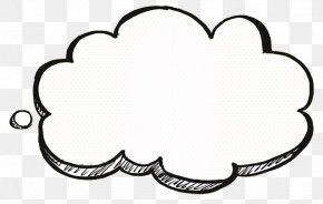 Thinking About Cloud Decorations - Cloud Cartoon Drawing PNG