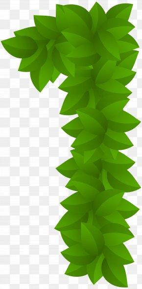 Leaf Number One Green Clip Art Image - Leaf Clip Art PNG