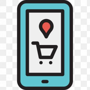 Shopping Cart - Mobile Phone Icon PNG