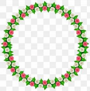 Rose Round Border Frame Clip Art - Wedding Clip Art PNG