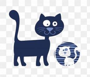Kitten - Kitten Black Cat Cartoon Illustration PNG