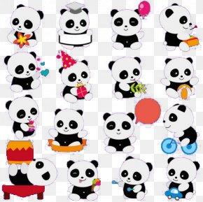 Image Of Varying Panda - Giant Panda Bear Cute Panda Cuteness Clip Art PNG