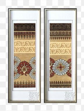 Chinese Aluminum Frame Pattern Cloth Background Mural - Picture Frame Icon PNG