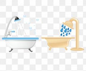 Creative Hand-painted Bathtub - Bathtub Tap Shower PNG