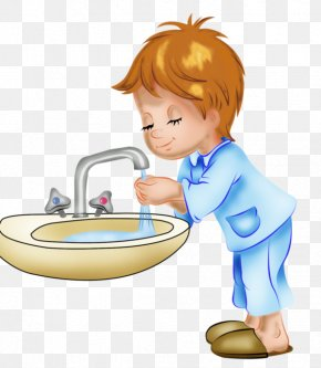 Cartoon Boy Washing Hands - Child Boy Drawing Hygiene PNG