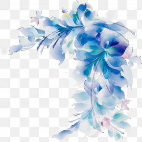 Hydrangea Flowering Plant - Blue Flower Plant Cut Flowers Petal PNG