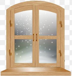 Winter Window Clip Art Image - Christmas Window Winter PNG