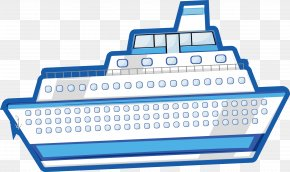 Ship Vector - Cruise Ship Drawing PNG