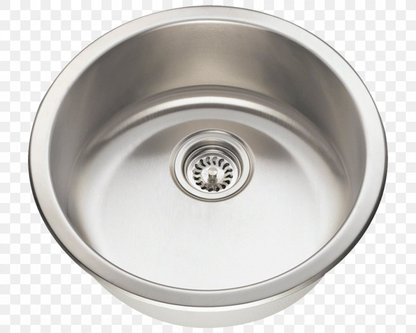 Kitchen Sink SAE 304 Stainless Steel Brushed Metal, PNG, 1000x800px, 174 Stainless Steel, Sink, Bar, Bathroom Sink, Brushed Metal Download Free