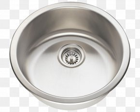 Sink - Kitchen Sink SAE 304 Stainless Steel Brushed Metal PNG