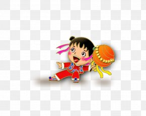 Chinese New Year Cartoon - China Chinese New Year Lion Dance PNG