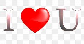 I - Love Heart Font PNG
