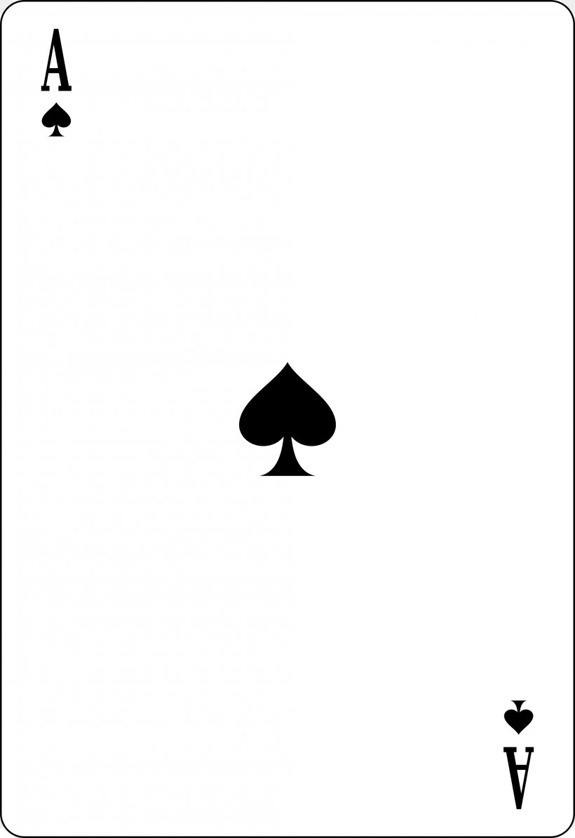 Ace Of Spades Playing Card Espadas, PNG, 2000x2913px, Ace Of Spades, Ace, Area, Black, Black And White Download Free