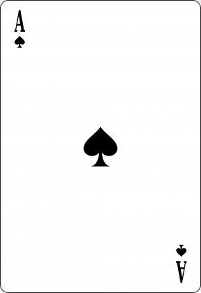 Spades - Ace Of Spades Playing Card Espadas PNG