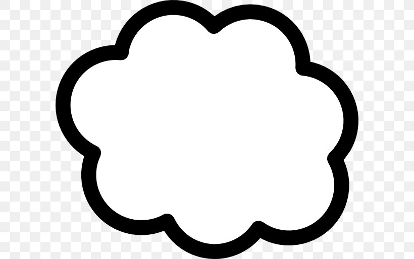 Cloud Computing Clip Art, PNG, 600x514px, Cloud, Area, Black, Black And White, Cloud Computing Download Free