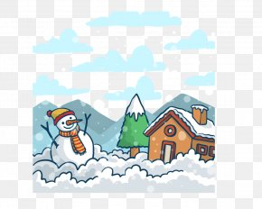 Winter Snow Background - Xiaohan Winter Snowman Dongzhi Shuangjiang PNG