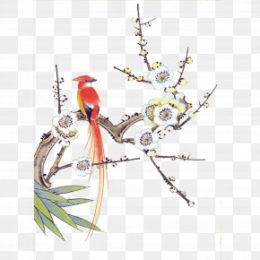 Birds And Flowers - Chinese Painting Gongbi Bird-and-flower Painting Ink Wash Painting PNG