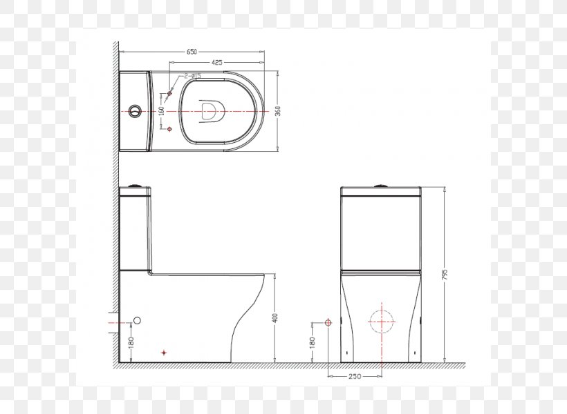 Flush Toilet Furniture Compact Space Floor Plan Png 600x600px