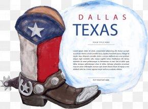 Vector Boots - Texas Cowboy Boot PNG