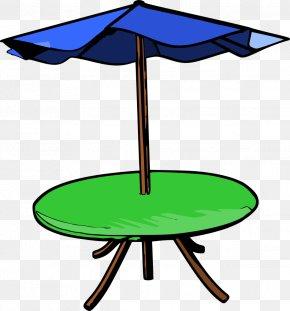 Table - Table Umbrella Garden Furniture Clip Art PNG
