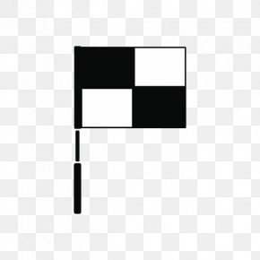 Black And White Plaid Flag - Flag Black And White PNG