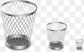 Vector Painted Metal Trash Can - Waste Container Paper Metal Recycling PNG