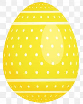 Yellow Dotted Easter Egg Picture - Easter Bunny Easter Egg Purple Clip Art PNG