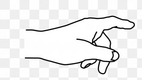 Pointing Cliparts - Index Finger Hand Pointing Clip Art PNG