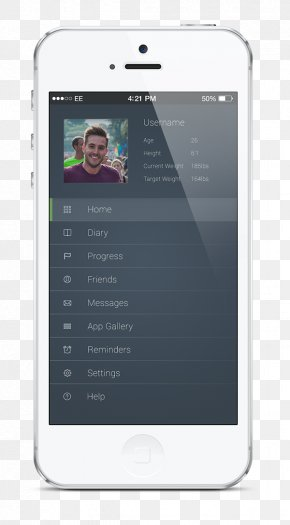 Fitness App - Feature Phone Smartphone Handheld Devices User Interface Design PNG