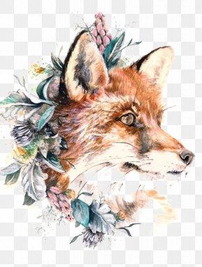 Fox - Red Fox Paper Tattoo Gray Wolf PNG
