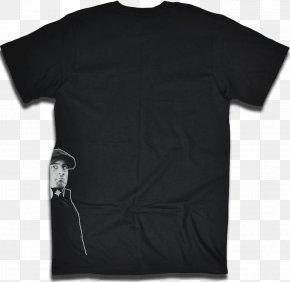T-shirt - T-shirt Black Raglan Sleeve PNG