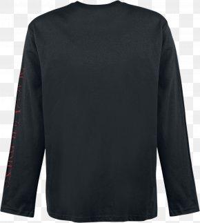 T-shirt - Long-sleeved T-shirt Long-sleeved T-shirt Black PNG