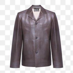 Men's Leather Lapel Button-design - Outerwear Download Jacket PNG