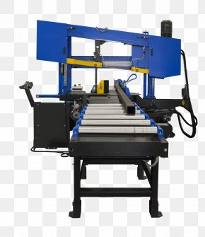 Steel Cutting Machine - Machine Conveyor System Band Saws Conveyor Belt PNG
