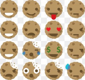 Biscuit Expression - Cookie Euclidean Vector Facial Expression Icon PNG