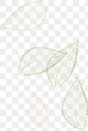 -painted Leaves Floating - Paper White Pattern PNG