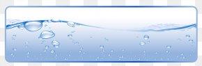 Water Theme Banner - Water Banner Drop Euclidean Vector PNG