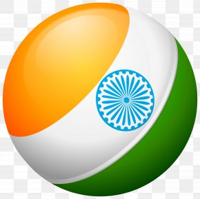 Round India Flag Transparent Clip Art Image - Flag Of India PNG