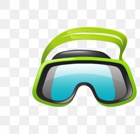 Cartoon Vector Diving Glasses - Goggles Glasses Underwater Diving Cartoon PNG