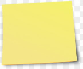 Sticky Note - Paper Square Angle Yellow PNG