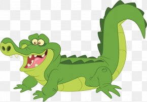 Cartoon Crocodile - Peter Pan Tinker Bell Tick-Tock The Crocodile Alligator PNG
