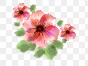 Watercolor Flowers - Drawing Pink Flowers Clip Art PNG