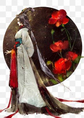 Antiquity Beautiful Woman Illustration - Translation Truyu1ec7n Theme Txf3c Chinese PNG