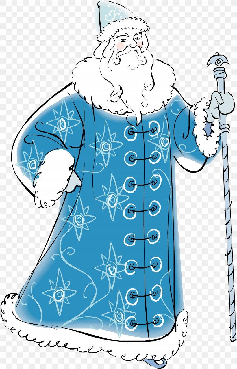 Ded Moroz Snegurochka Santa Claus Grandfather Clip Art, PNG, 2665x4154px, Ded Moroz, Art, Artwork, Blue, Clothing Download Free