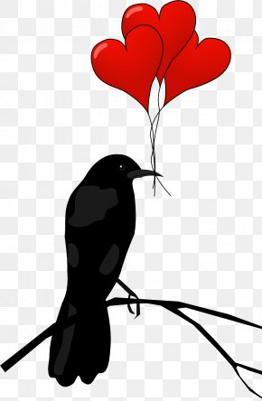 Raven Hearts Transparent - Valentine's Day Free Content Heart Clip Art PNG