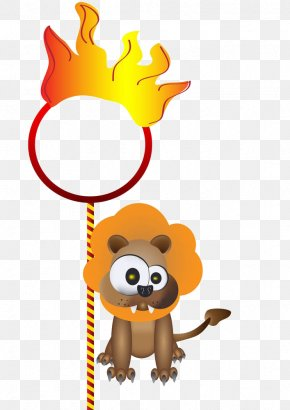 Cartoon Lion Torch - Circus Royalty-free Photography Illustration PNG